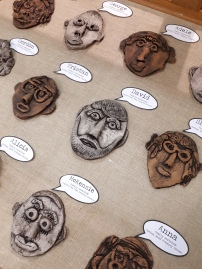 Family workshops - clay selfies