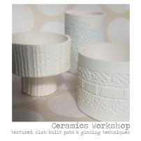 Tiny Textured Pots at OSA