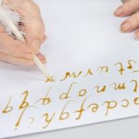 Calligraphy workshop using botanical inks